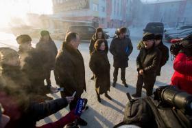 Губернатор Югры Наталья Комарова и Глава окружной столицы Максим Ряшин посетили объекты благоустройства города.